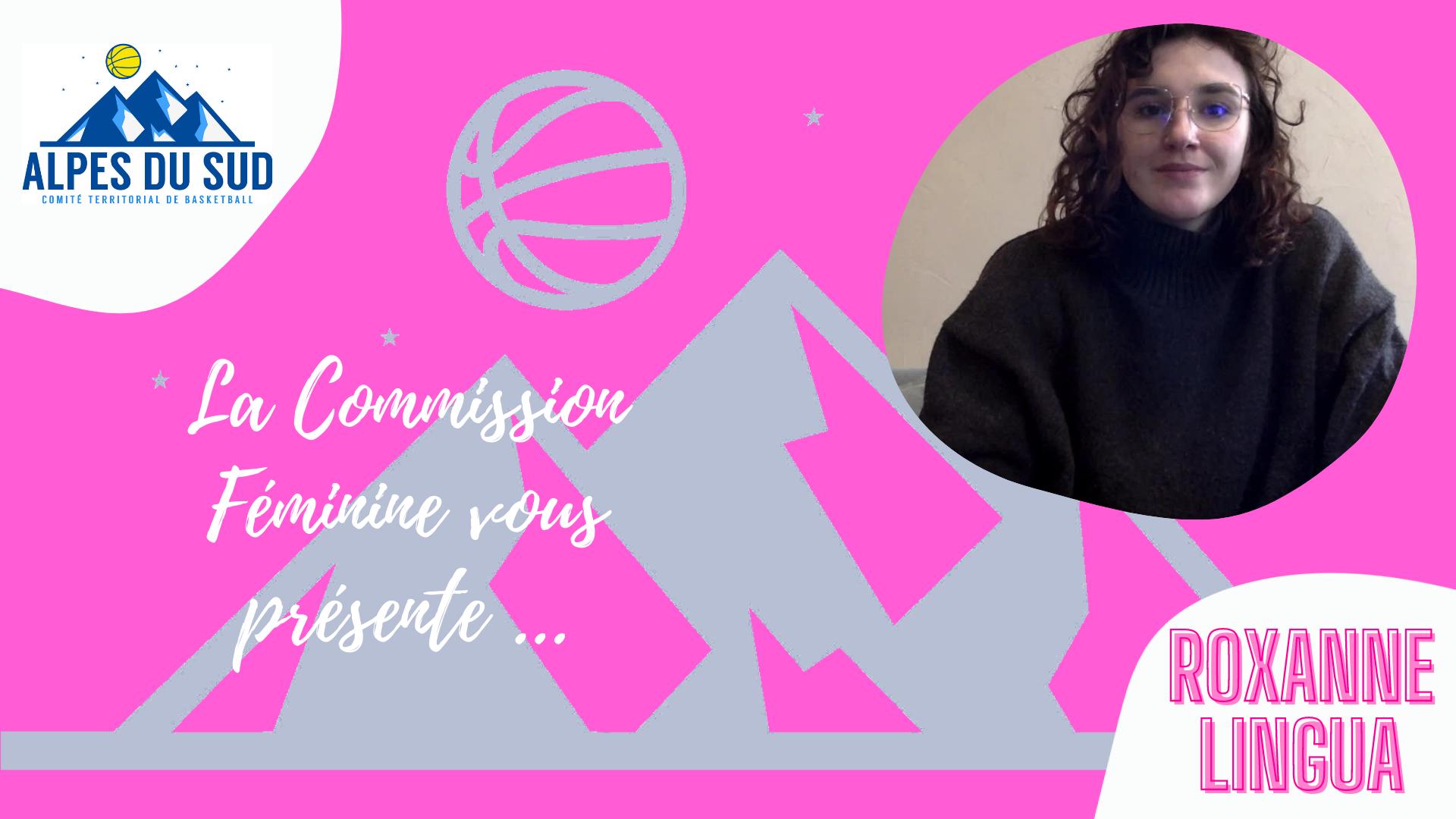 Roxanne LINGUA marraine de la commission féminine